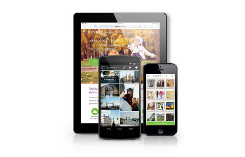 Automatically save and organize you family stories using the Forever mobile app. (Photo: Business Wire)