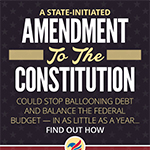 Infographic summary of the Compact For America plan for a balanced budget amendment – the need, the process and the timing. (Graphic: Business Wire)