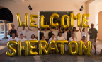 Sheraton Hacienda del Mar staff welcome back the first guests at the resort on November 1 following Hurricane Odile. (Photo: Business Wire)