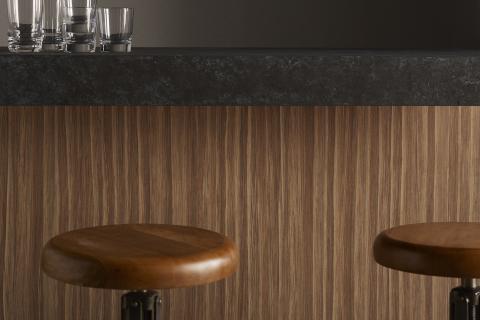 Wilsonart unveils 16 affordable new woodgrain designs, including Buka Bark (Photo: Business Wire)