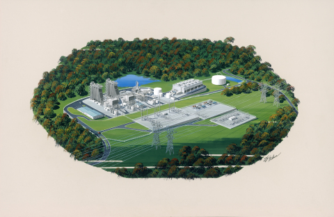 The 778 MW Panda Stonewall Generating Station (Graphic: Business Wire)