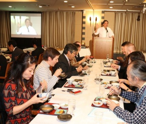 Lecture by Hirohisa Koyama (Photo: Business Wire)