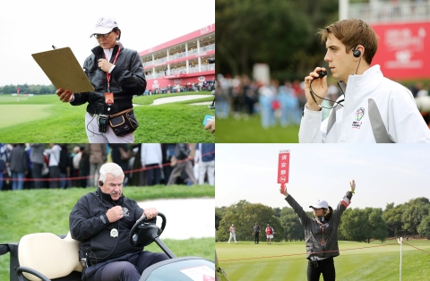 Hytera DMR portable terminal PD688 with brilliant metal frame design can be seen everywhere around the course on the scorers, referees, marshals, IMG staff and PGA officials (Photo: Business Wire)
