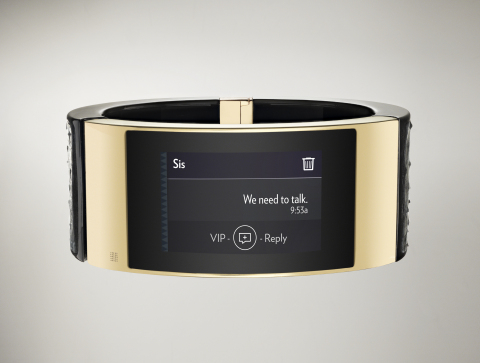 MICA displaying SMS text (Photo: Business Wire)