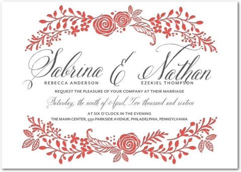 Letterpress Wedding Invitation, Bountiful Bliss. (Photo: Business Wire)