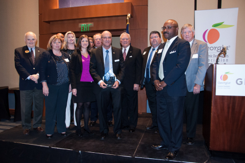 Pictured at the GEDA awards luncheon, left to right: Jimmy Burnsed, chairman of the Bryan County Boa ...