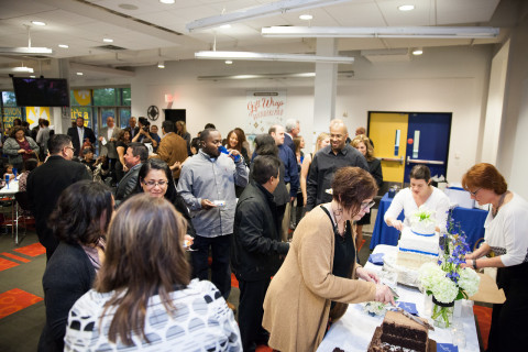 More than 200 colleagues, friends and family joined the reception followed in The Container Store's on-site cafeteria – the Gumby Café. (Photo: Business Wire)