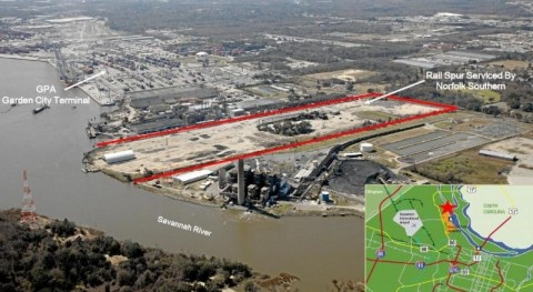 Shuttered in 2007, this 58-acre brownfield site in the Port of Savannah will now be environmentally remediated and repurposed by Commercial Development Company, Inc. (Photo: Business Wire)