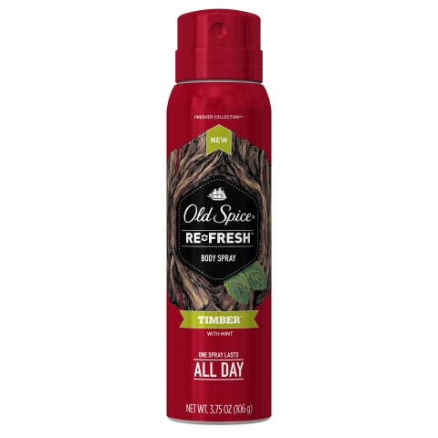 Old Spice Timber Re-Fresh Body Spray (Photo: Business Wire)
