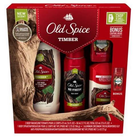 Old Spice Holiday Gift Set in Timber Scent (Photo: Business Wire)