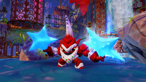 Winterfest Lob-Star in action in Skylanders® Trap Team (Graphic: Business Wire)