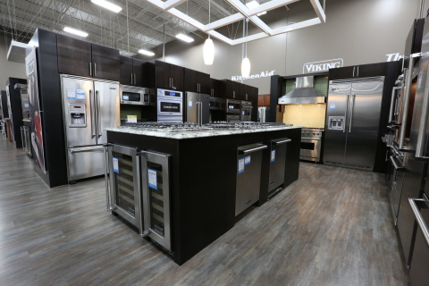 Six Chicagoland stores now feature Pacific Kitchen & Home areas that offer top appliances brands and custom kitchen design options, part of Best Buy's $20 million overhaul earlier this year in Chicagoland stores. (Photo: Aarjay Broton / Best Buy)
