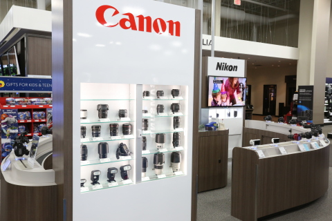 As part of Best Buy's $20 million overhaul for Chicagoland stores, there are now Camera Experience Shops in addition to new Microsoft Windows Stores, Apple shops, and a new Dyson in-store experience. (Photo: Aarjay Broton / Best Buy)