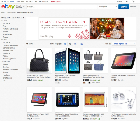 eBay Deals begin Tuesday, November 25, online and on eBay's mobile app. (Graphic: Business Wire)