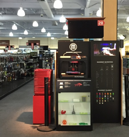 MakerBot 3D Printers and Filament now available at Fry's Electronics in AZ, CA, GA, IL, IN, NY, OR, TX and WA. (Photo: Business Wire)