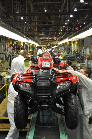 Honda ATVs are a strong contributor to the 300M milestone being celebrated today. (Photo: Business Wire)