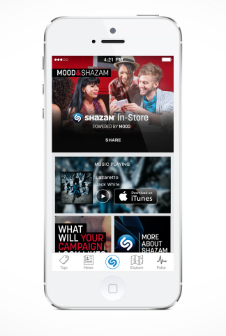 Shazam In-Store (Graphic: Business Wire)