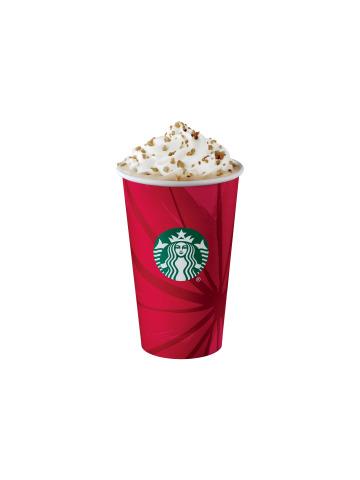 Starbucks Chestnut Praline Latte. Starbucks will make a 10 cent donation for each handcrafted bevera