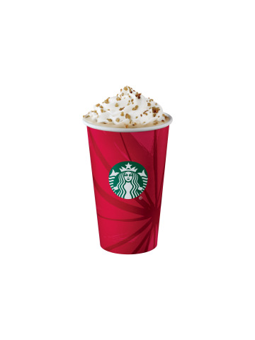 Starbucks Chestnut Praline Latte. Starbucks will make a 10 cent donation for each handcrafted beverage sold in participating U.S. and Canada stores on World AIDS Day, December 1. (Photo: Business Wire)