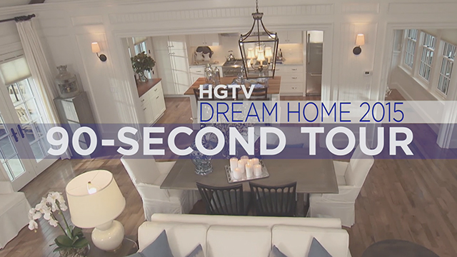 Get a quick tour of the entire HGTV Dream Home 2015 in just 90 seconds! The tour is hosted by HGTV's Brian Patrick Flynn.
