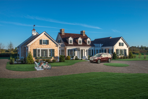 The HGTV Dream Home 2015 is a modern interpretation of a Cape Cod style home, situated on the prestigious and beautiful island of Martha's Vineyard, Massachusetts. The $2 million+ HGTV Dream Home giveaway package includes a 2015 GMC Acadia Denali, as well as $250,000 provided by national mortgage lender Quicken Loans. (Photo: Business Wire)