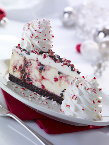 The Cheesecake Factory announces the return of its seasonal Peppermint Bark Cheesecake, a holiday favorite available now in restaurant locations nationwide. (Photo: Business Wire)