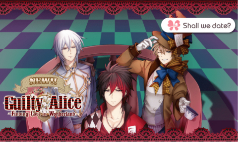 The game Guilty Alice is a visual novel dating simulation game, deeply inspired by the enduring masterpiece of 'Alice's Adventures in Wonderland'. The story takes place both in the real world and Wonderland, and the game players, as Alice, can experience a fantasy, adventurous love romance with each unique, mysterious and appealing male characters from Wonderland. (Graphic: Business Wire)