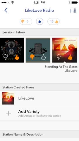 Pandora   Station Details (Photo: Business Wire)