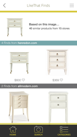Here are a few of the items Celerie Kemble found with LikeThat Décor. (Graphic: Business Wire)