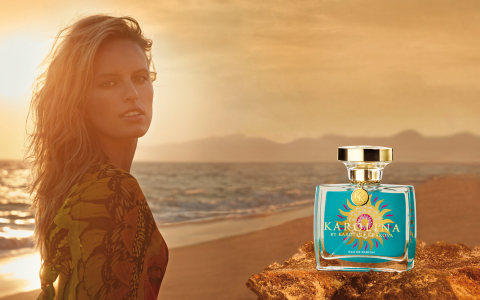 "In cooperation with the cosmetics specialist LR Health & Beauty Systems, supermodel Karolina Kurkova introduced her second women's fragrance onto the market: ""KAROLINA by Karolina Kurkova"". (Photo: Business Wire)"