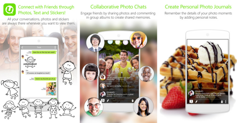 CyberLink's innovative new app brings a brand new photo sharing experience for users to engage in photo chats, create collaborative albums and bolster the privacy of discrete interactions. (Photo: Business Wire)