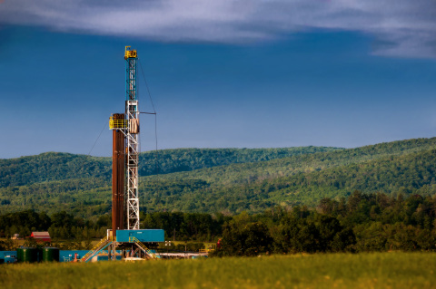 A rig drills for natural gas in Pennsylvania's Marcellus Shale. WPX Energy signed a $300 million dea ...