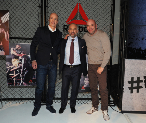 Reebok President Matt O'Toole, UFC Chairman & CEO Lorenzo Fertitta, UFC President Dana White (Photo: Business Wire)