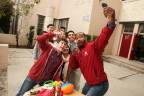 Old Spice HoliSPRAY Toy Donation Exchange: Selfie with Isaiah Mustafa & Nolan Gould (Photo: Business Wire)