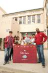 Old Spice's HoliSPRAY Toy Donation Drive at Hollywood High School with Isaiah Mustafa & Nolan Gould (Photo: Business Wire)