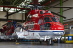 Two of CHC Helicopter's aircraft in current hangar in Dyce, Aberdeen (Photo: Business Wire)