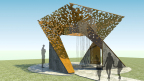 Rendering of the winning memorial honoring the late Nelson Mandela. Designed by Brian Sell of Moody Nolan Architects, the monument will be unveiled in late 2015 and permanently hosted at Skylawn Memorial Park in San Mateo, Calif. (Photo: Business Wire)