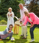 The Great British Baking Show with (l to r) Sue Perkins, Mary Berry, Paul Hollywood and Mel Giedroyc. Credit: Love Productions