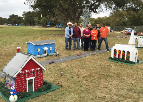 Freescale employees reinvigorated the 30-year-old Tiny Town, making it the Trail of Lights' first interactive display. (Photo: Business Wire)