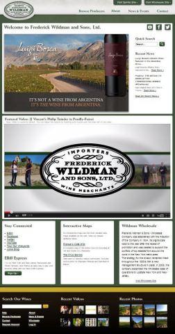 Frederickwildman.com Homepage (Photo: Business Wire)