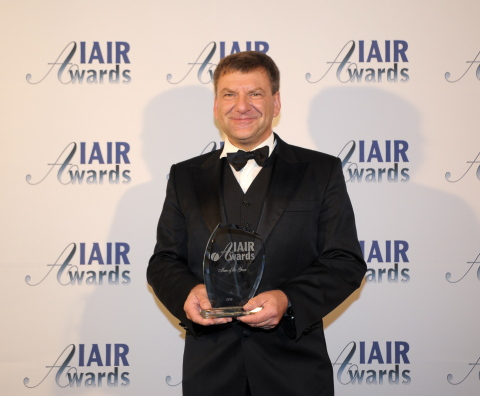 Prof. Karsten Koenig awarded as European Man of the Year 2014 (Photo: Business Wire)