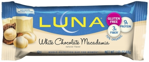 White Chocolate Macadamia Gluten Free LUNA® Bars (Photo: Business Wire)