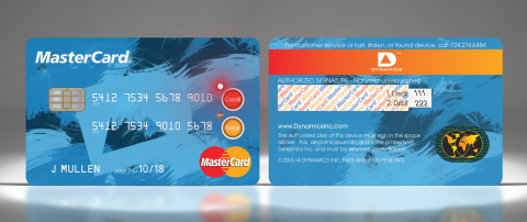 Credit/Debit: Interactive Payment Cards from MasterCard and Dynamics, Inc. This card enables consumers to access either their debit or credit accounts. The world's first interactive payment card technology incorporates a tiny built-in computer to deliver consumers unprecedented control, convenience and security. The technology delivers multiple functions through built buttons, displays and LEDs, including the ability to select up to five different currencies, access multiple accounts, and even instantly choose which reward programs to activate. The card is also compatible with existing point-of-sale terminals. (Photo: Business Wire)