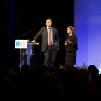 "IHI President & CEO Maureen Bisognano and IHI EVP Derek Feeley encourage the 5,500 health professionals at IHI's National Forum on Quality Improvement in Health Care to embrace ""the genius of the AND"" in their work. They will host a media Q&A at 4:30 pm ET on Tues Dec 9: 1-866-469-3239; code: 2177238 (Photo: Business Wire)."
