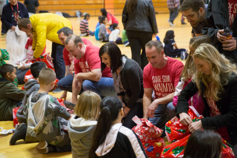 Vivint raises $224,000 to buy gifts for children, including Salt Lake City students who live below t ...