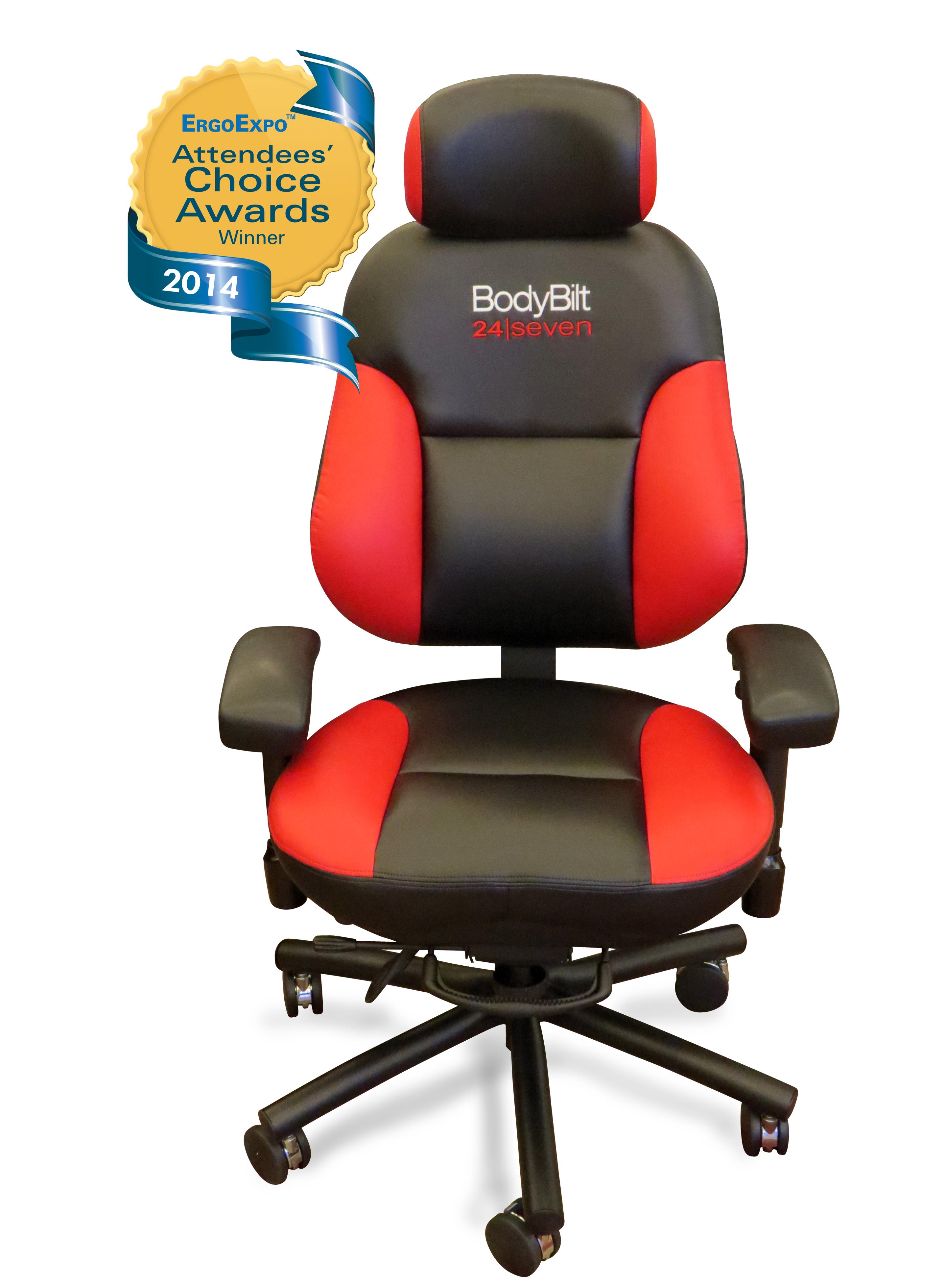 Ergogenesis Chair ergogenesis wins attendees' choice award for bodybilt 24/7 chair