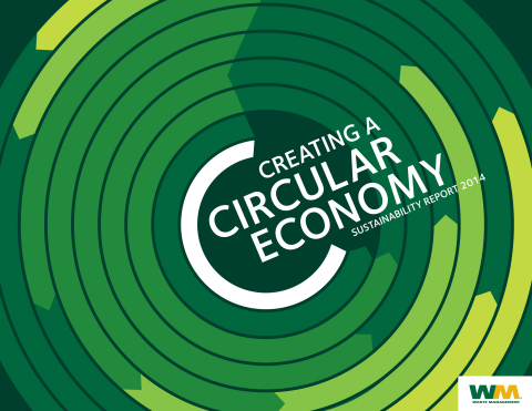 Cover photo of Waste Management's 2014 Sustainability Report (Graphic: Business Wire)