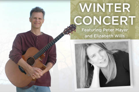 Peter Mayer and Elizabeth Wills, two of acoustic music's brightest luminaries, will join voices onstage at the FUMCFW Winter Concert Saturday, December 20. Tickets $20 online or at the door; doors open at 7 pm, music begins at 7:30. Learn more at www.fumcfw.org/winterconcert (Photo: Business Wire)