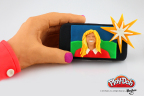 """But first... let me take a PLAY-DOH selfie! The PLAY-DOH brand has sculpted its very own selfie to represent the popular social snap. Be sure to check out the PLAY-DOH Facebook page to see which other big """"A Year in PLAY-DOH Moments"""" have been sculpted: https://www.facebook.com/playdoh (Photo: Business Wire)"""