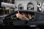 """Nissan, NBC & Adam Levine launch """"Red Thumb Day"""" to urge drivers to stop texting and driving. (Photo: Business Wire)"""